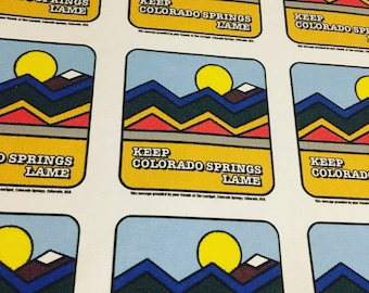 Keep Colorado Springs Lame full color printed canvas patch