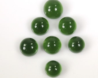 33.75ct Wholesale lot of 100% Natural Serpentine Gemstone Round Cabochon 11 to 9
