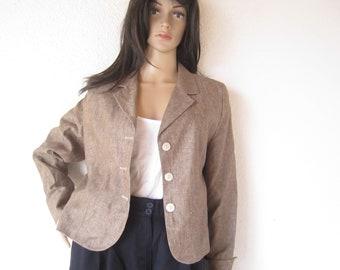 Vintage designer Jacket Wool silk S-m