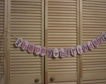 Lavender Happy Birthday Banner, Girls Birthday Banner, Happy Birthday Banner,