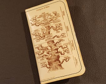 Leather Credit Card Holder - with Tree of Life - Free Global Shipping