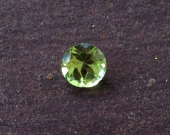 Natural Faceted Peridot AAA Gemstone Loose 3mm Round Lime Green