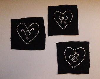 LGBT Embroidered Patch - Gay, Lesbian, Transgender & Non-Binary