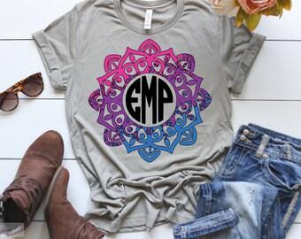 Ombre Mandala Monogram T-Shirt