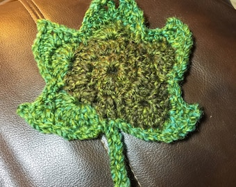 Crocheted leaves - large