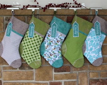 Christmas Stockings Family - Gray - Christmas Stocking - Best Quality