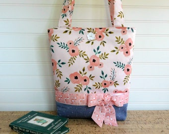 Girls Tote Bag for Toddler Purse, Toddler Tote Bag, Kids Tote for Girls Handbag, Young Girls Purse, Gift for Toddler, Little Girls Purse