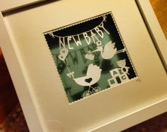 New baby paper cutting template for personal use