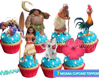 Moana Cupcake toppers/ Moana Printables/ Moana Cake Toppers/ Maui Toppers/ Moana Party/ Instant Download/ You Print 60% OFF Sale
