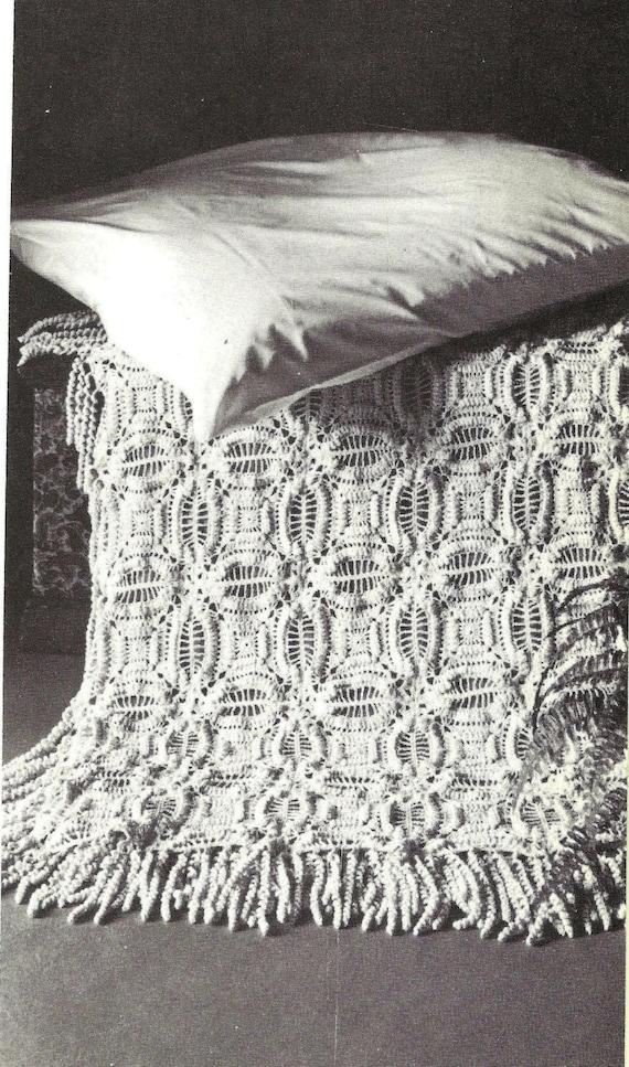 1970s, Crochet Blanket,crochet Pattern,crochet bedspread,vintage bedspread,vintage pattern,pdf pattern,instant download,home decor patterns