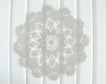 Beige Crochet Doily, lace doily, home decor, table decoration, handmade, center piece