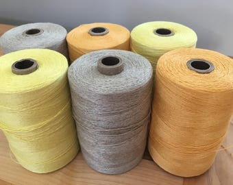 Linen Weaving Yarn - Linen from France - Spun and Dyed in Quebec - 9/2