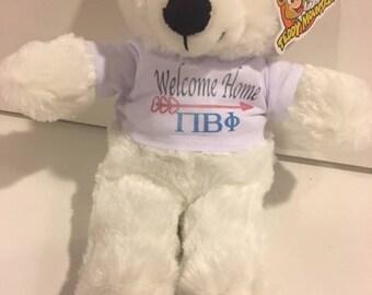 Pi Beta Phi Welcome Home Bear