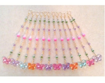 Beaded Curtain Accents...Set of 12  Straight Beaded Strands for Shower Curtains, Curtains, Draperies or as Suncatchers