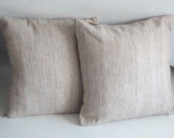 Beige pillow covers, cushion case, beige pillow, 16x16