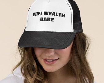 Wifi Wealth™ Babe Trucker Hat