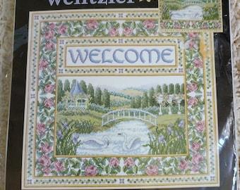 Teresa Wentzler English Garden Welcome Cross Stitch Kit