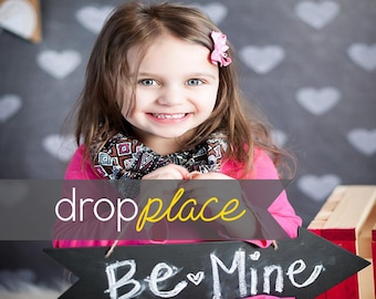 Printed Chalkboard Hearts Photography backdrop  Background Photo Booth Printed vinyl or Fabric (Multiple Sizes Available)