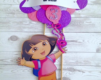 Dora The Explorer Topper Birthday Baby SHower Party Cake Decour Topper