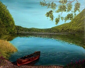 Original Acrylic Painting of Lake