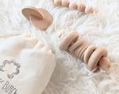 Newborn Gift Set - Baby Shower Gift - Montessori Wood Toys - Wooden Toy - Newborn Baby Gift - Montessori Baby Gift Set - Baby Shower