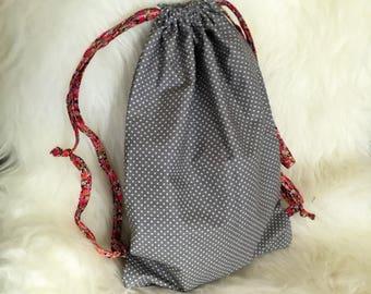 toy bag 100% cotton : cotton bag polka dot and liberty