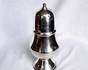 Vintage silver plate sugar shaker...large powdered sugar shaker...silver plate sugar sifter.