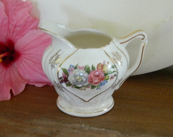 Vintage Flower Creamer Pitcher Japan