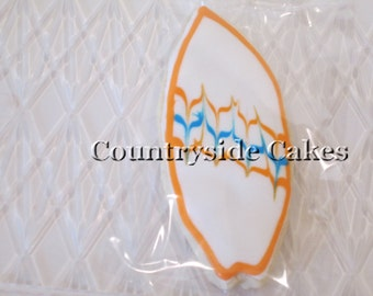 Surfboard  Decorated Sugar Cookies  -1 dozen