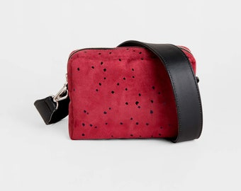 Cross body bag, Vegan Gift, Leather purse, Gift for her, Vegan bag, Box bag, Gift for women, Vegan purse, Crossbody purse, Red handbag