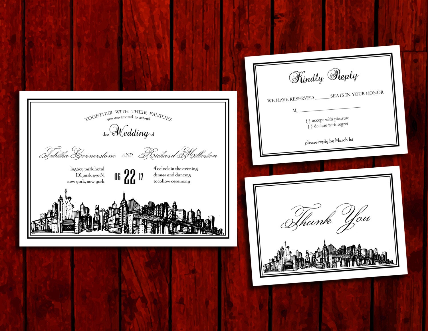 New York State of Mind: Wedding Invitation Suite Print at