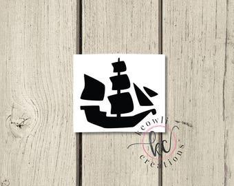 Pirate Ship Vinyl Decal