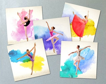 Ballet Greeting / Birthday Cards Set of 5
