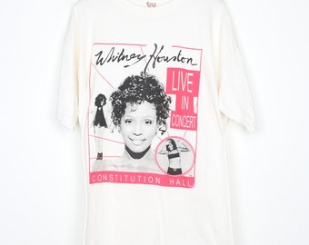 Whitney Houston Shirt Vintage tshirt 1996 Tour Constitution Hall Concert tee 1990s I Believe In You And Me The Preacher's Wife Pop Singer