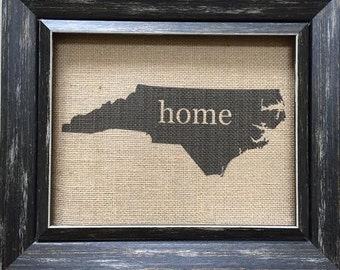 State Silhouette Home Sign / State Silhouette Sign / Home Sign / NC Home Sign / Custom Home Sign / Custom State Silhouette / State Art