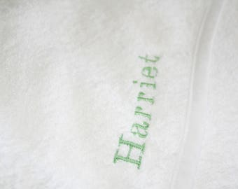 Personalised White Babies Hooded Towel