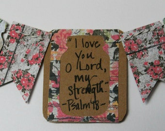 Psalm 18 Mini Scripture Bunting