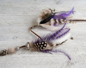 Purple Feather Hair Clip » Hair Feathers » Boho Feathers » Roach Clip » Feather Extensions » Festival Fashion » Coachella » Burning Man