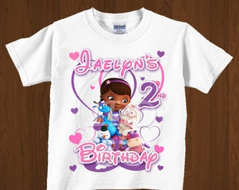 Doc Mcstuffins Birthday Shirt  Iron On Images Printable -YOU PRINT