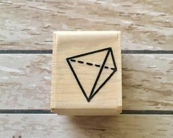 Polyhedron shape rubber stamp snailmail penpal journal planner card decoration