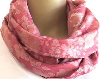 Pink Infinity Scarf, Round Scarf