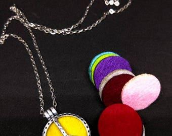 Diffuser oil Peace necklace 22 inches perfume , aroma , oil