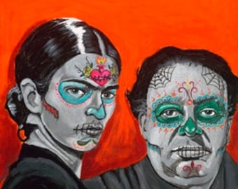 Frida and Deigo day of the dead print