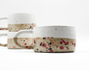 300 ml - Wheel Thrown Speckled Stoneware Ceramic Mug, Coffee Mug, Tea Mug