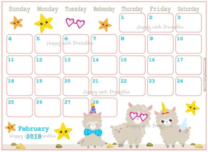 Cartoon Calendar 2018 Printable Cartoon Ankaperla Com