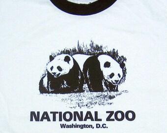 rare time capsule PANDAS National Zoo T-Shirt Unworn Vintage Kid  & Adults tee shirt DC china panda bear softtgrunge ringer emo 90s