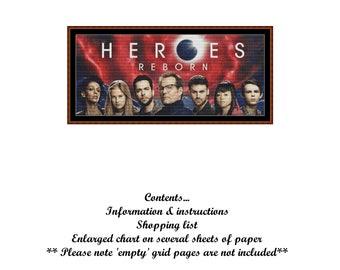HEROES REBORN Cross Stitch Chart ( pattern )