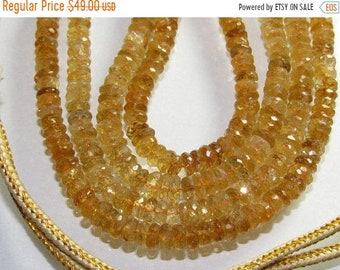 Citrin Faceted Rondelle Shape Necklace Size Approx 5mm Lenght Approx 17'' inch New Arrival Wholesale price