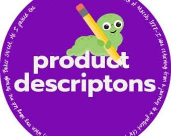 copywriting, product descriptions, copy, creative writing