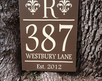 Address Sign ~ Address Plaque ~ Home Address Sign ~ House Numbers ~ New Home Gift ~ First Home Sign ~ House Number Plaque ~Housewarming Gift